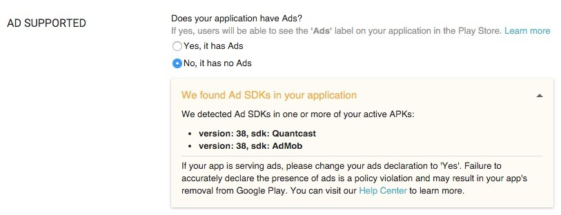 Google Play Store aplicaciones anuncios