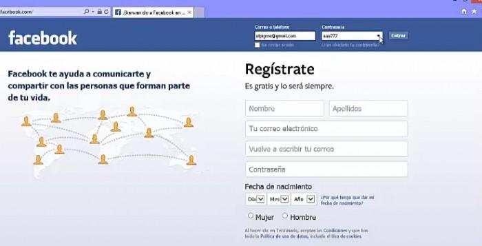 Facebook contraseñas