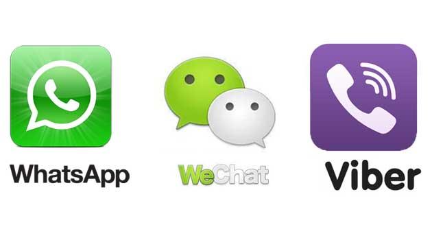 WhatsApp vs Viber vs WeChat