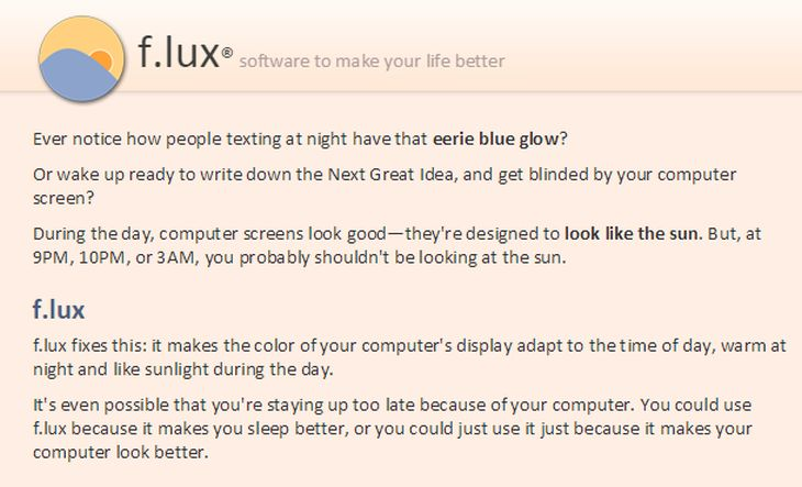F.lux Apple