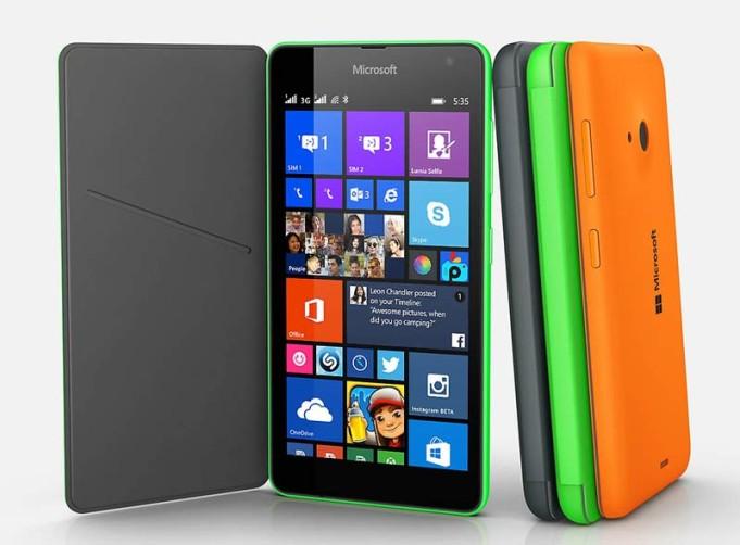Microsoft Lumia 535 vs Lenovo Vibe P1