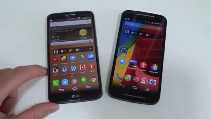 Motorola Moto G2 vs LG G2