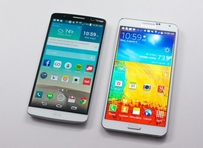 Samsung Galaxy Note 3 vs LG G3