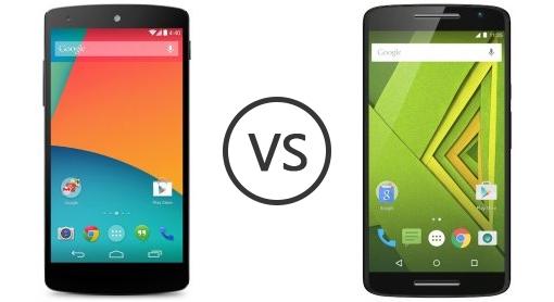 LG Nexus 5X vs Motorola Moto X Play