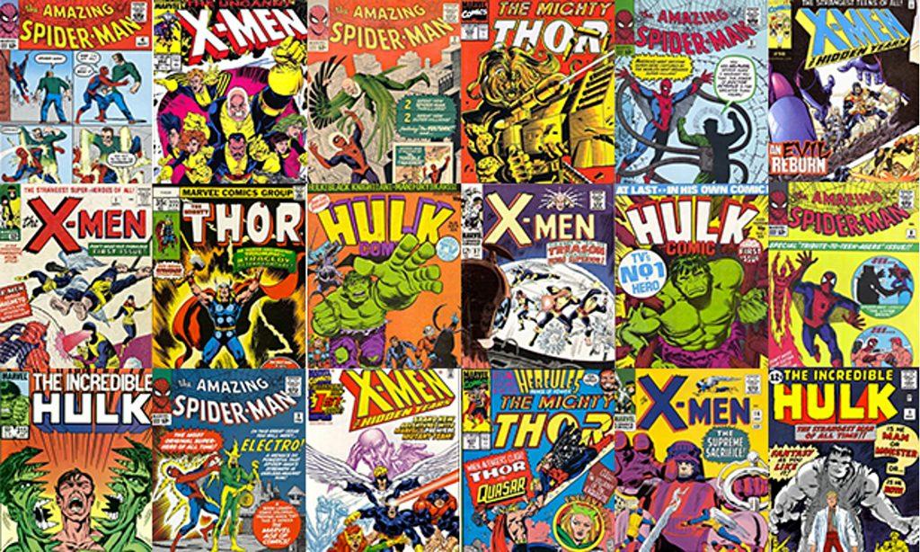Marvel comic heroes covers