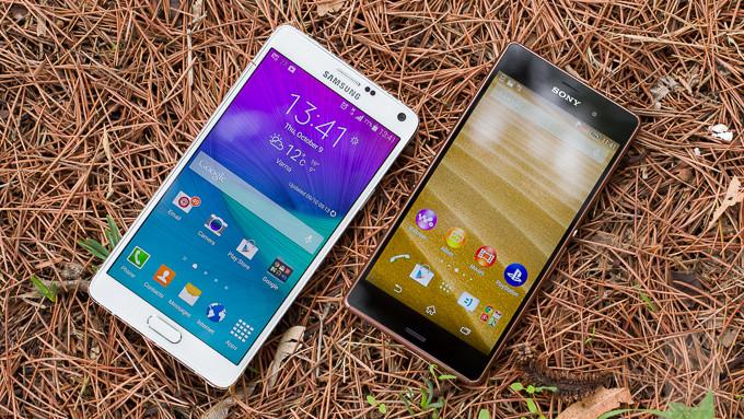 Sony Xperia Z3 vs Samsung Galaxy S5 2