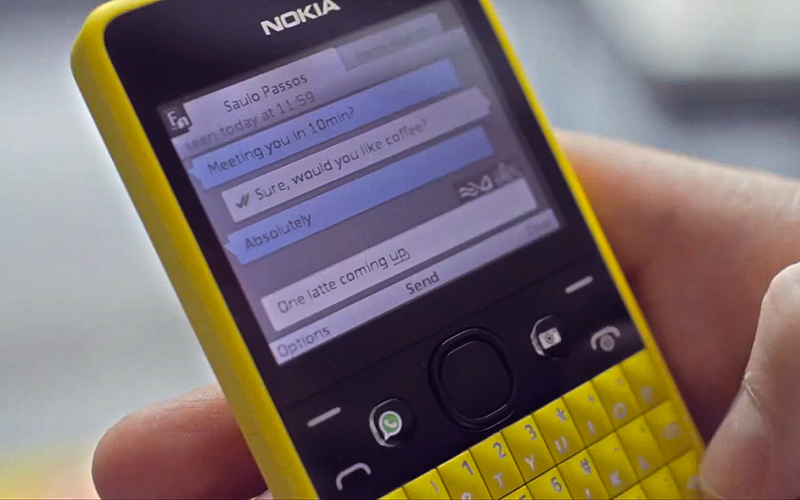 WhatsApp Nokia Asha 2