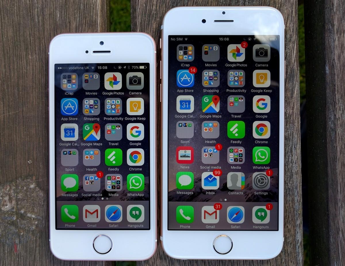 iPhone SE vs iPhone 6S 2
