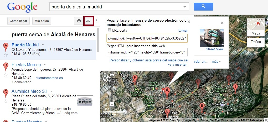 Google Maps coordenadas 2