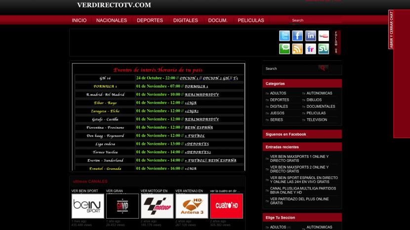 paginas para ver fútbol online gratis
