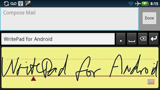 Aplicaciones escribir Android