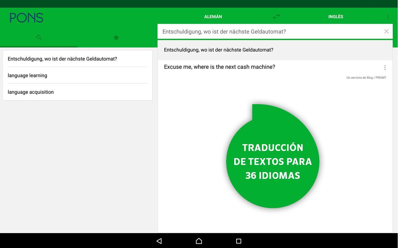 Aplicaciones traducción Android