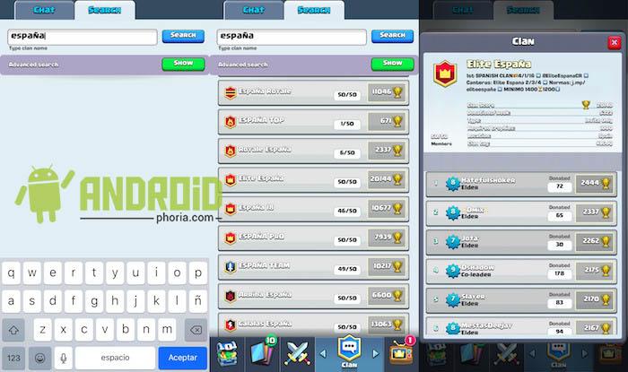 Chat vacío Clash Royale solución 2