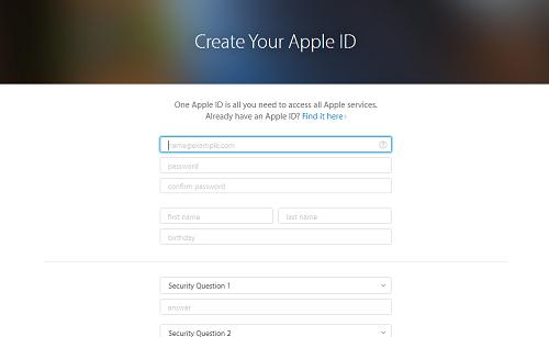 Crear cuenta Apple 2
