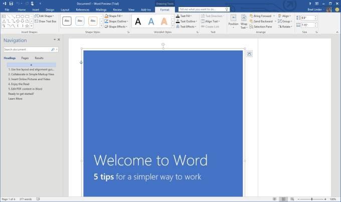 Descargar Microsoft Word 2016