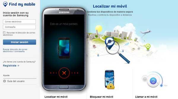 Localizar móvil Samsung robado perdido