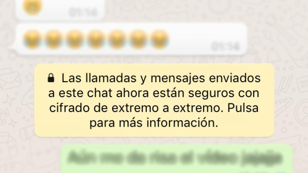 Mensajes cifrados WhatsApp