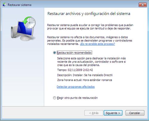 Reiniciar Windows 7
