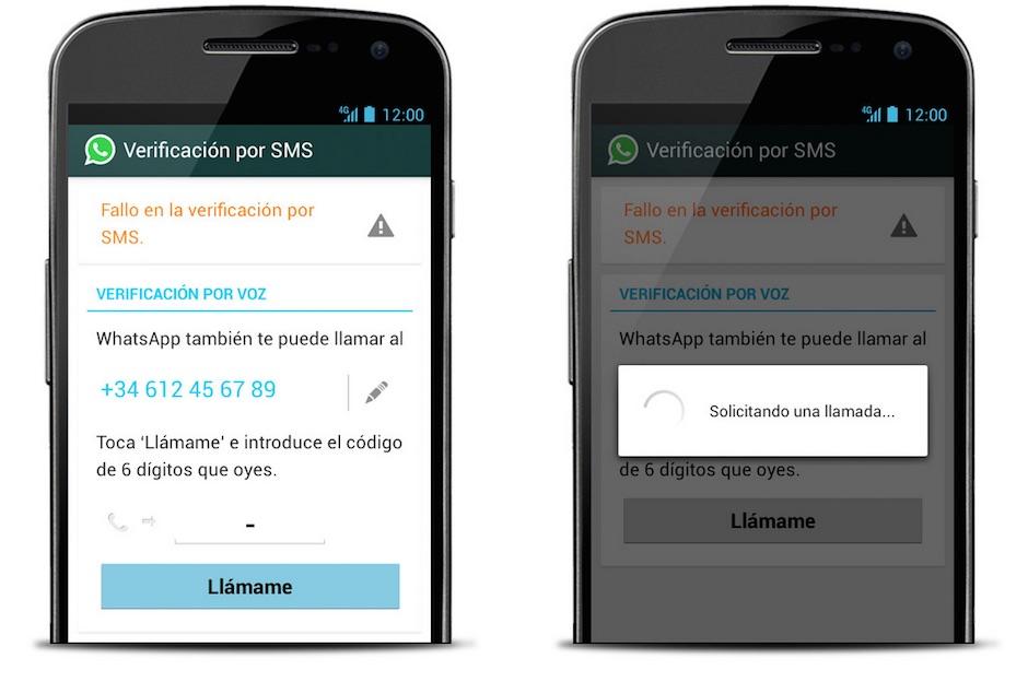 WhatsApp códigos de verificación