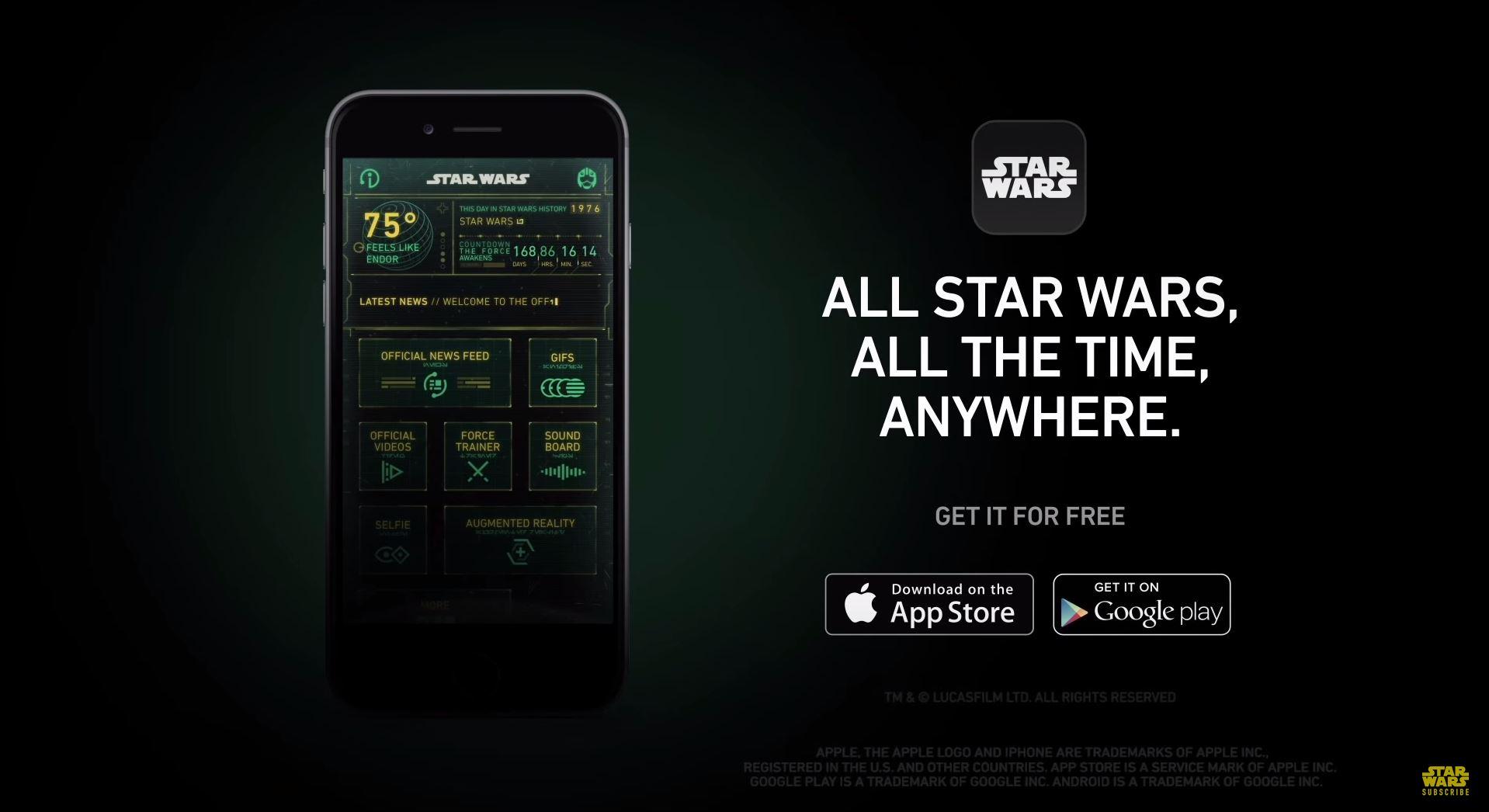 Aplicación oficial Star Wars Android