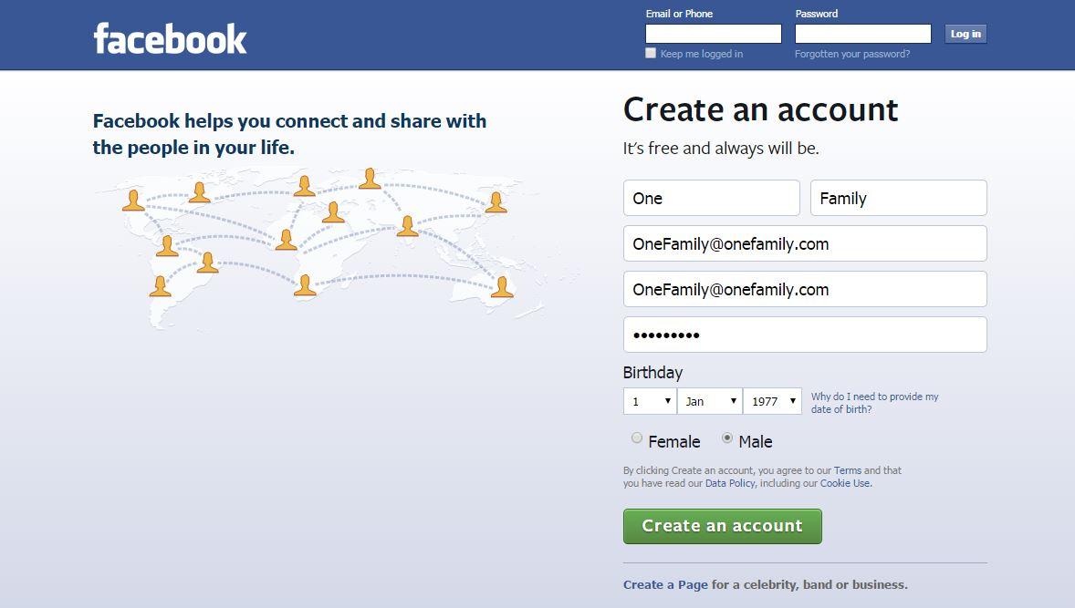 Facebook gratis Foundation Profile