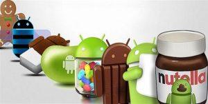 actualización de Android Nutella5