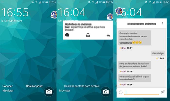 Burbujas en el chat de Whatsapp